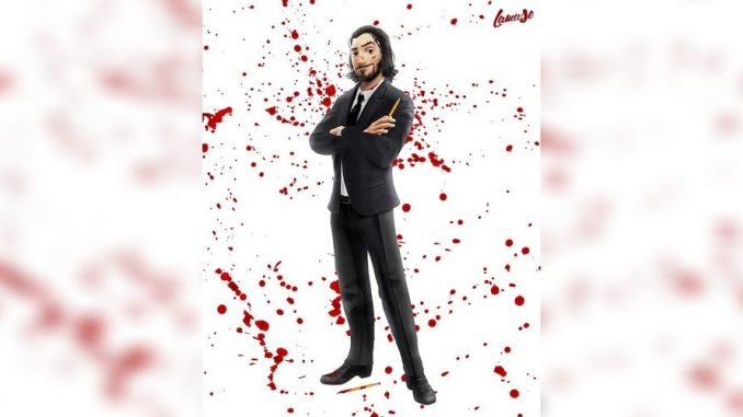 John Wick Image As A Disney Animated Character
